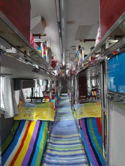 客车内室2-车况-延吉市至黄岛豪华卧铺客车产品分类